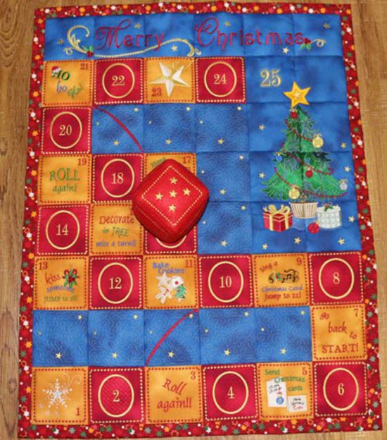 Christmas Game Play Mat ~ Quilt