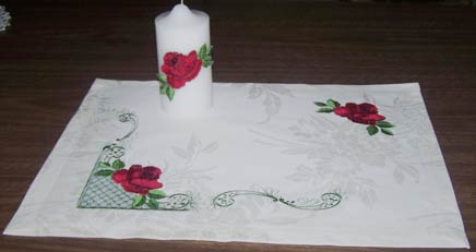 Candle & Table Cloth