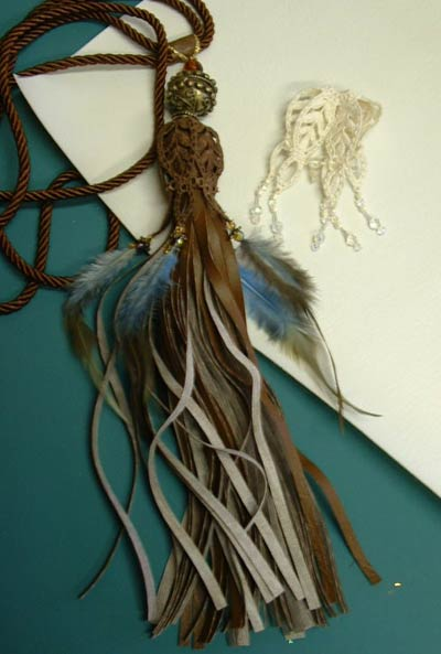 Tassels Galore 1, Slinky, silk fringe version